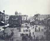 Fiera del Marrone in Piazza Galimberti (1938)